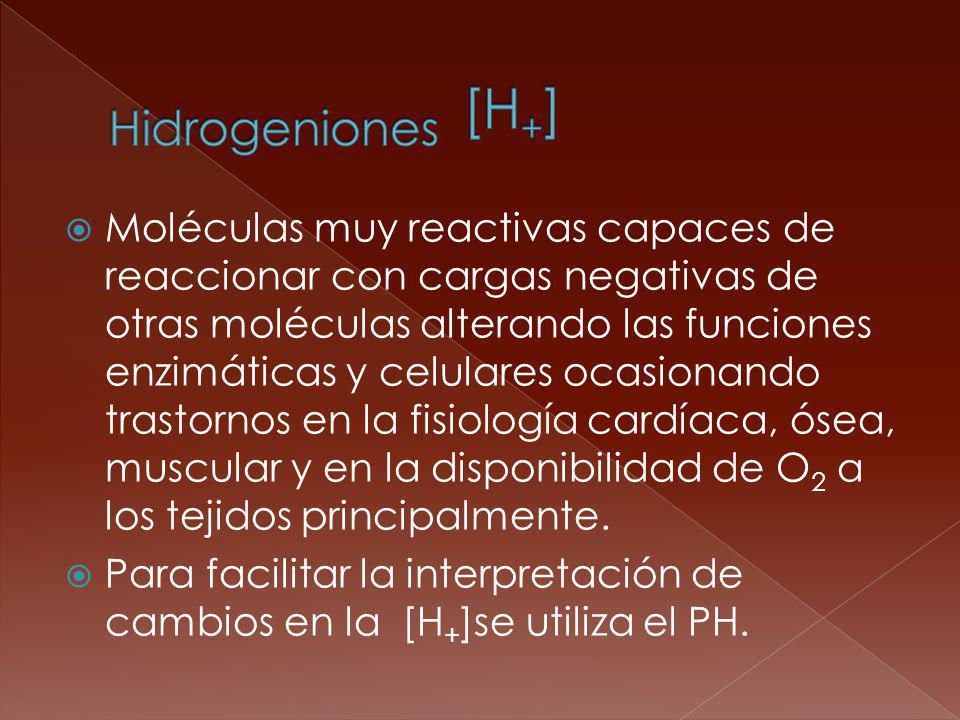 Hidrogeniones [H+]